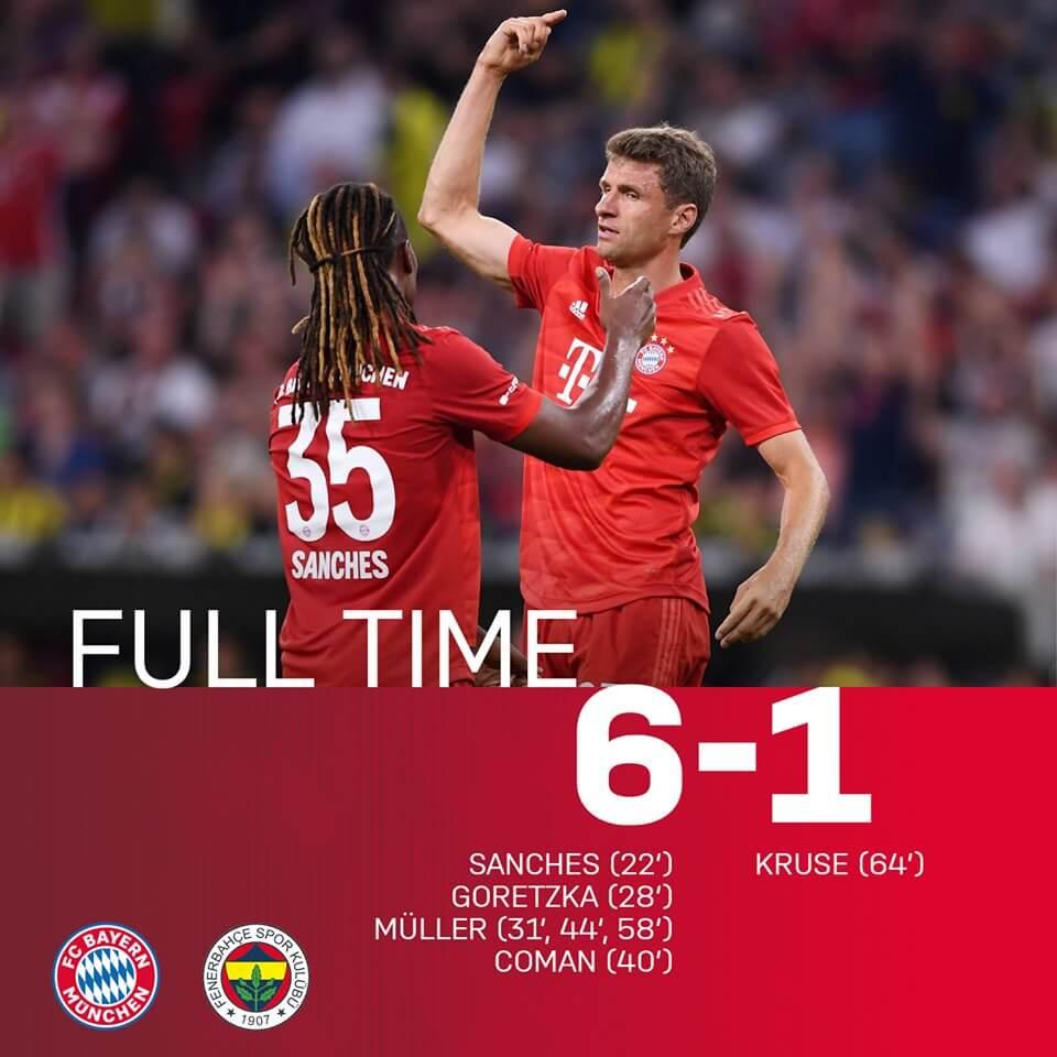 Bayern - Fenerbahce Audi Cup 2019