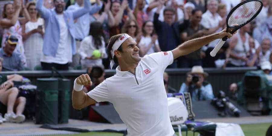 Roger Federer jubelt