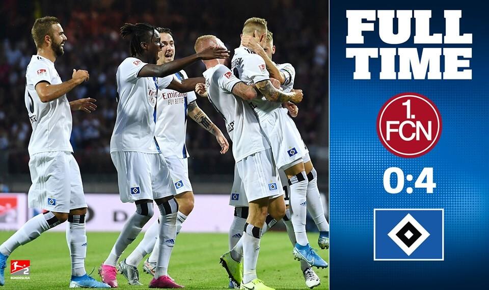HSV gewinnt auswärts am zweiten Spieltag in Nürnberg!