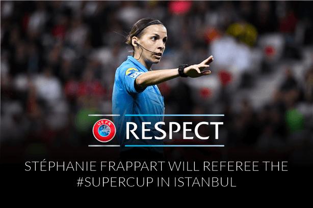 UEFA Super Cup wird von Stéphanie Frappart gepfiffen!