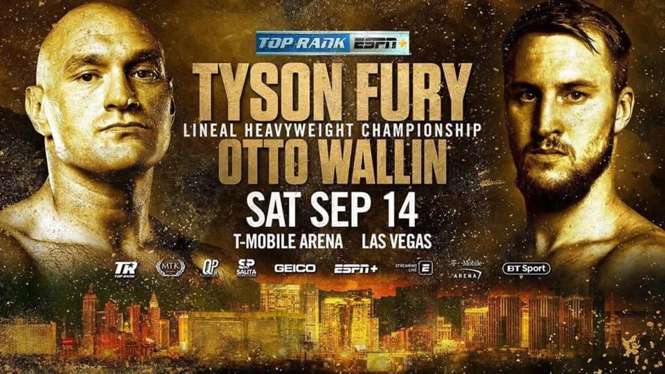 Tyson Fury kämpft gegen Otto Wallin