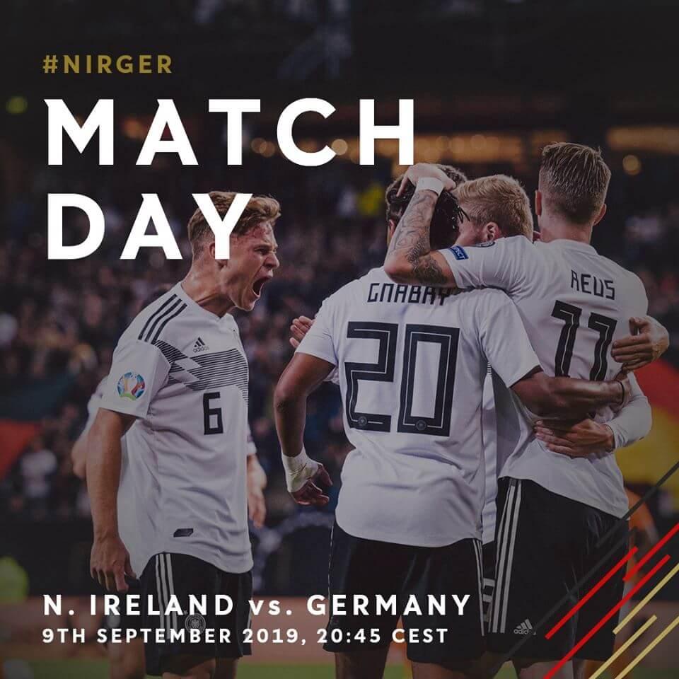 EM Quali Spiel zwischen Nordirland und Deutschland