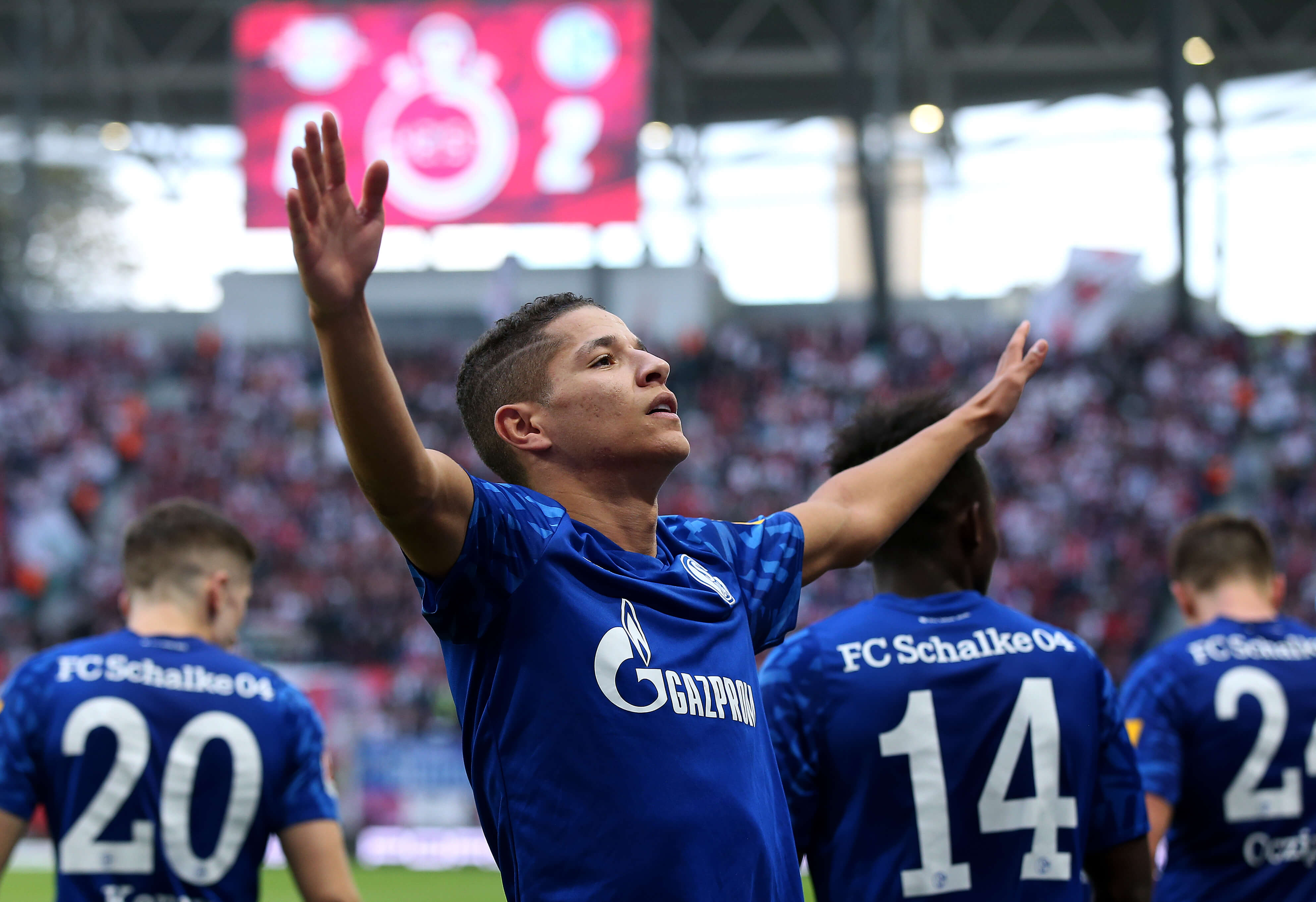 Amine Harit Schalke04 celebrate