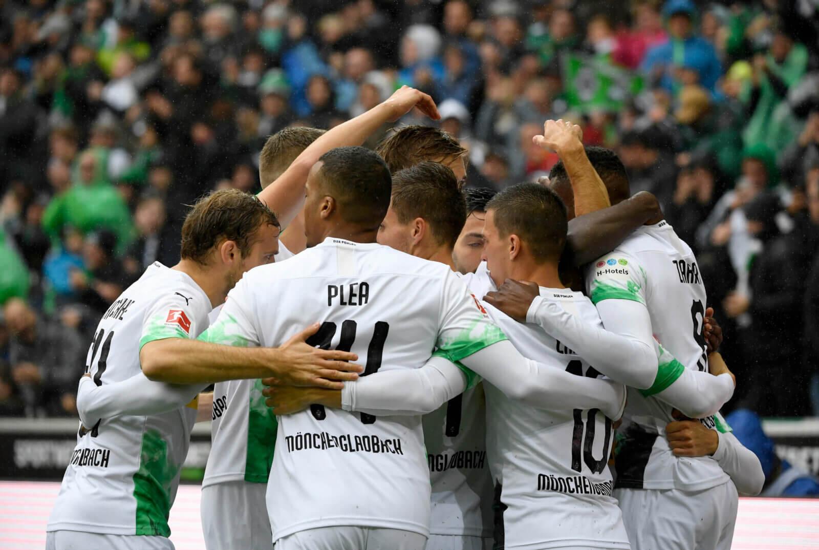 Borussia Mönchengladbach celebrate