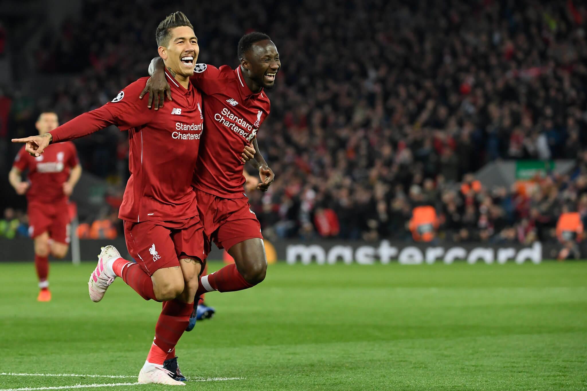 Das Merseyside Derby in Liverpool