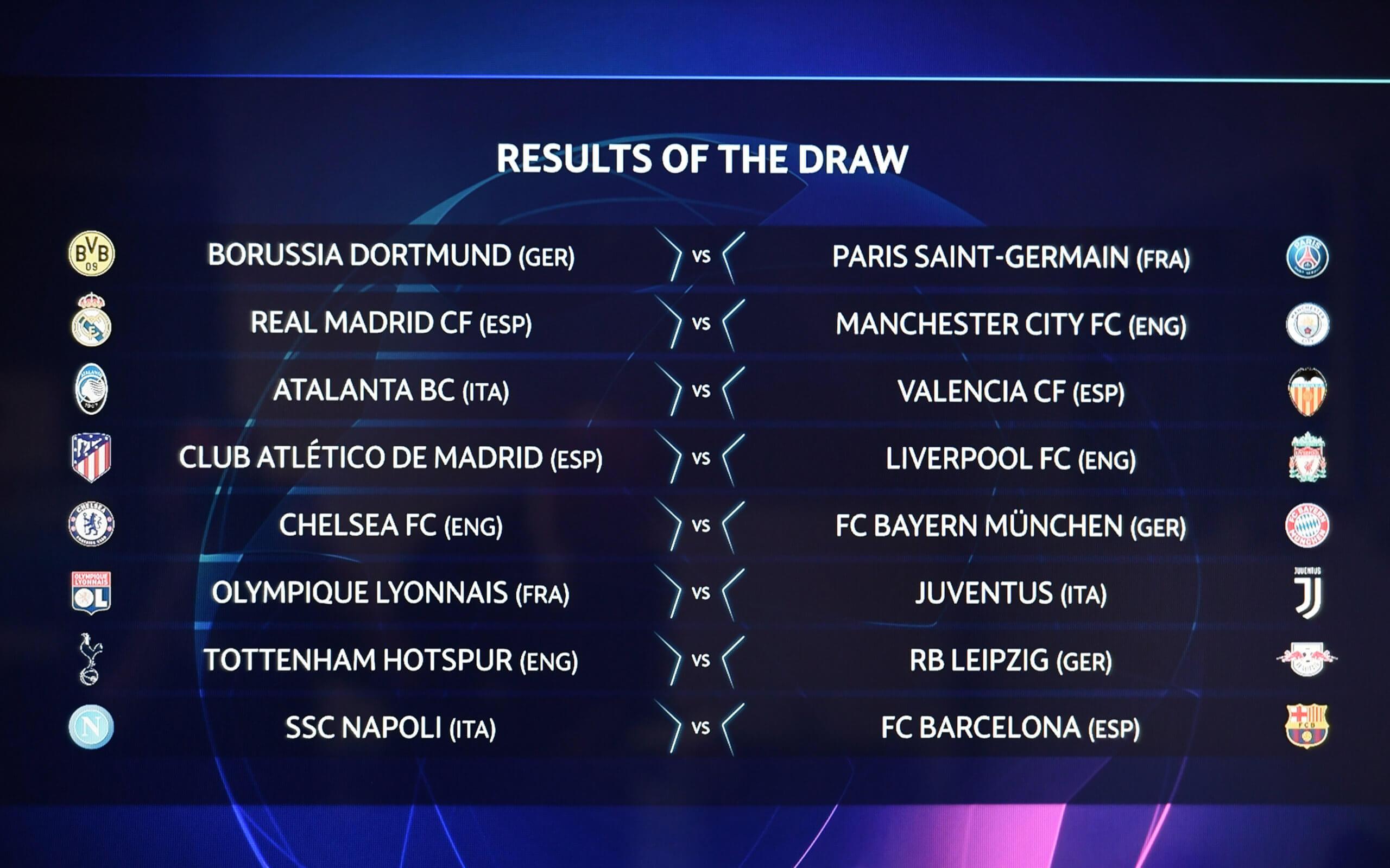 Champions League Achtelfinale