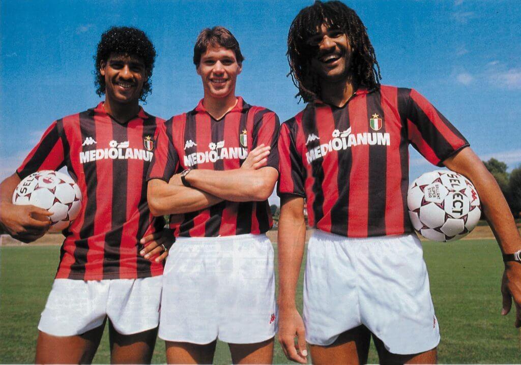 Rijkaard van Basten Gullit   Milan AC