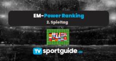 EM 2020: Power Ranking 2. Spieltag